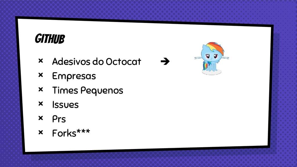 × Adesivos do Octocat ➔ × Empresas × Times Pequ...