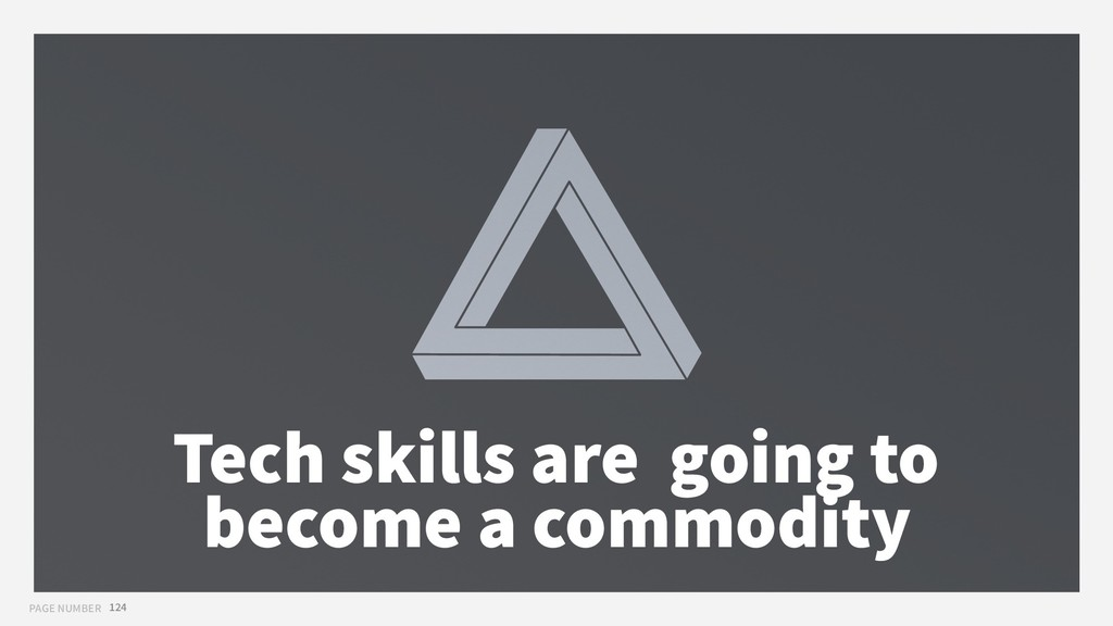 PAGE NUMBER 124 Tech skills are going to become...