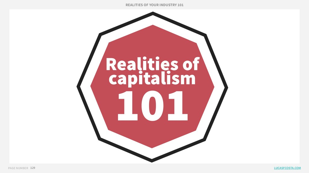 PAGE NUMBER 129 Realities of capitalism 101 REA...