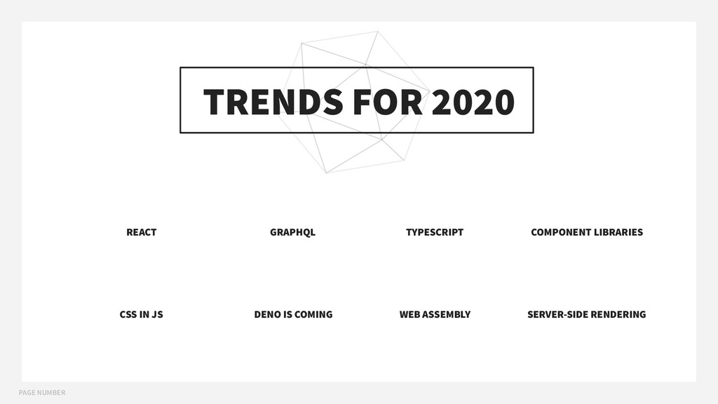 PAGE NUMBER TRENDS FOR 2020 REACT GRAPHQL CSS I...