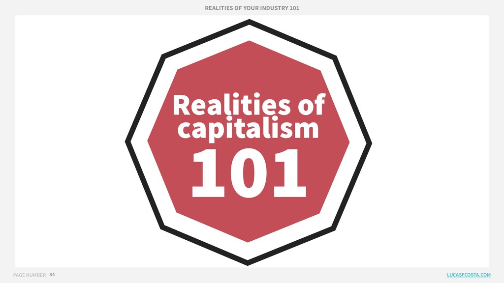 PAGE NUMBER 84 Realities of capitalism 101 REAL...
