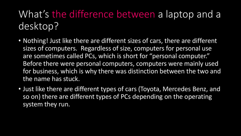 What's the difference between a laptop and a de...