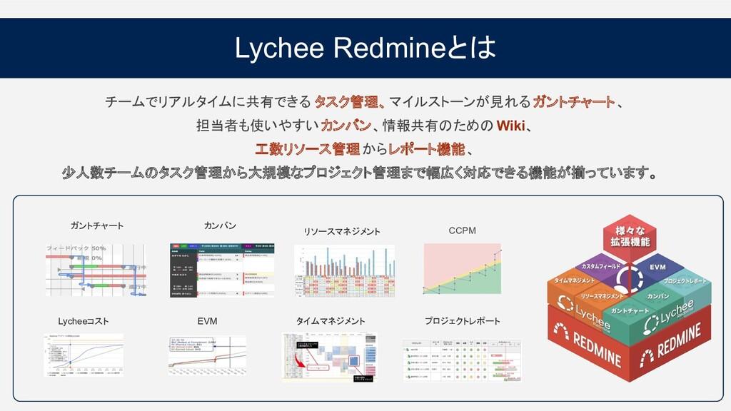 Lychee Redmineとは チームでリアルタイムに共有できる タスク管理、マイルストーン...