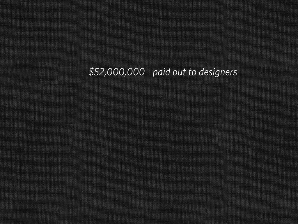 $52,000,000 paid out to designers