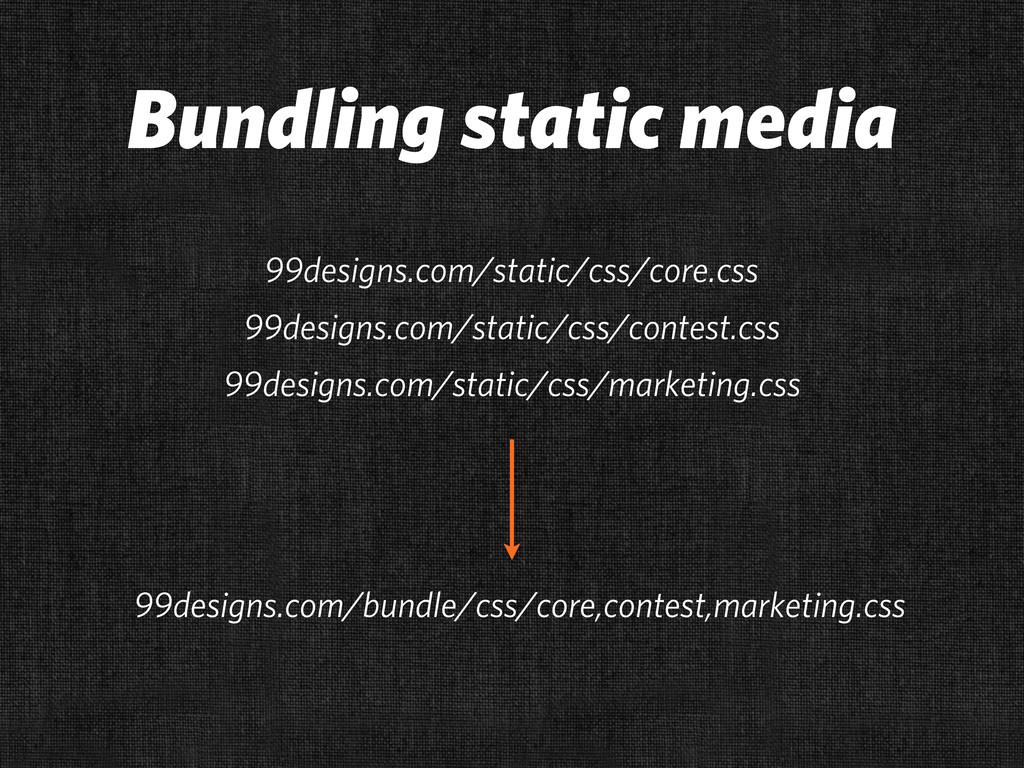 Bundling static media 99designs.com/static/css/...