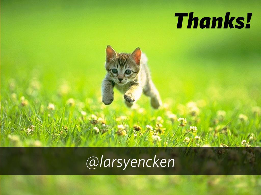 Thanks! @larsyencken