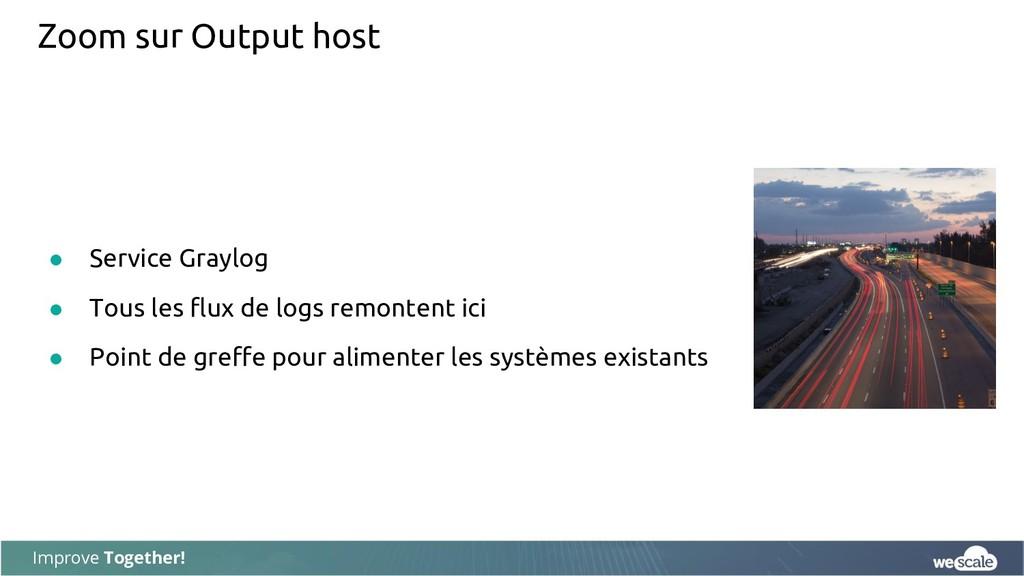 Improve Together! Zoom sur Output host ● Servic...