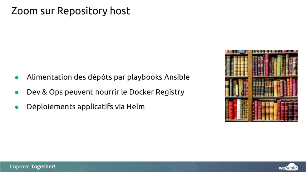 Improve Together! Zoom sur Repository host ● Al...