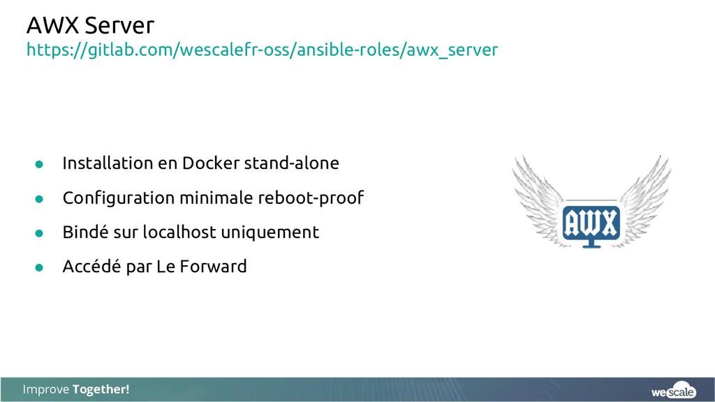 Improve Together! AWX Server ● Installation en ...