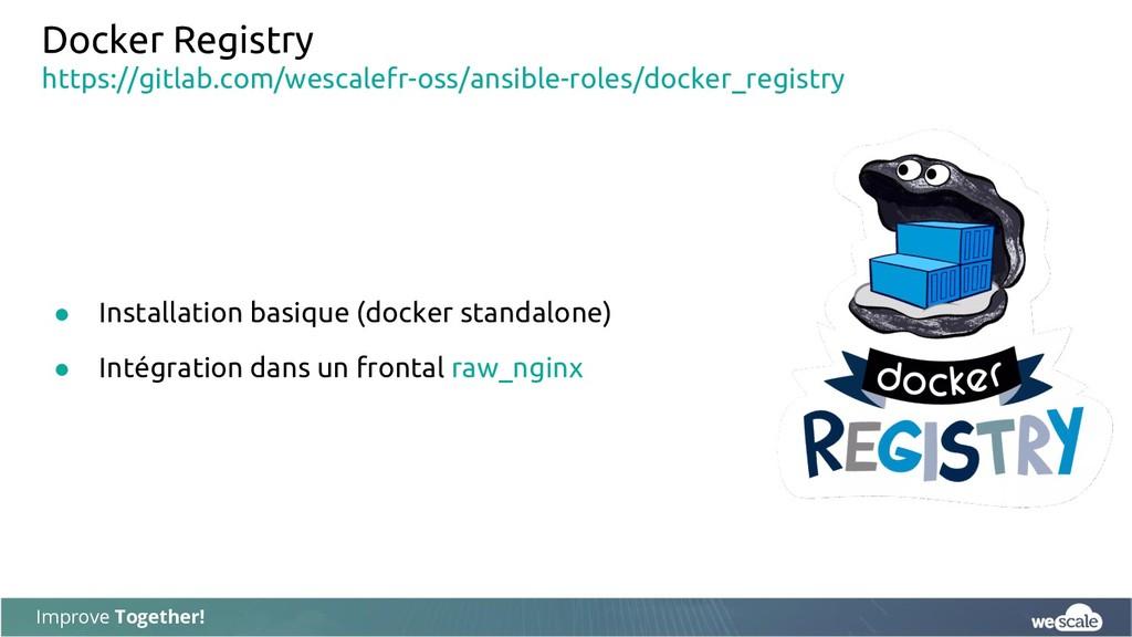 Improve Together! Docker Registry ● Installatio...