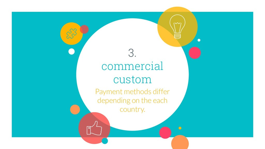 3. commercial custom Payment methods differ dep...
