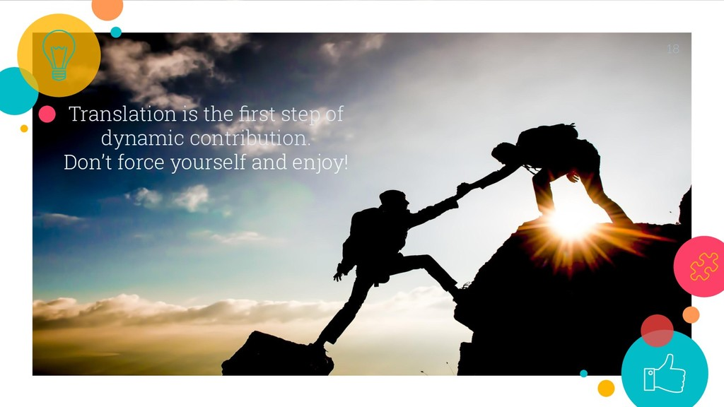 Translation is the first step of dynamic contrib...