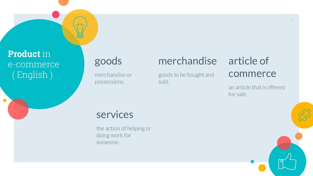 Product in e-commerce ( English ) goods merchan...