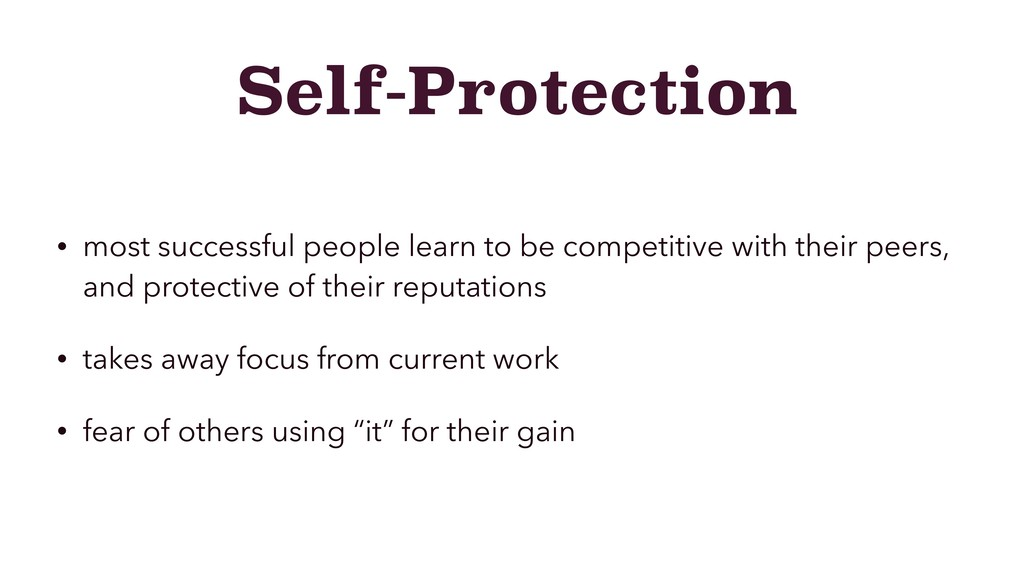 Self-Protection • most successful people learn ...