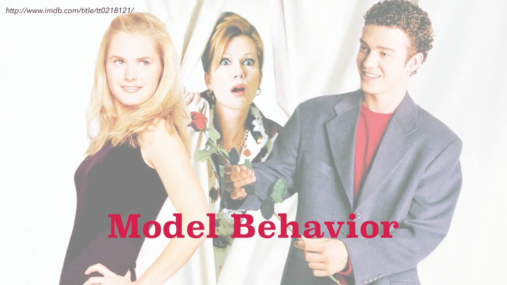 http://www.imdb.com/title/tt0218121/ Model Beha...