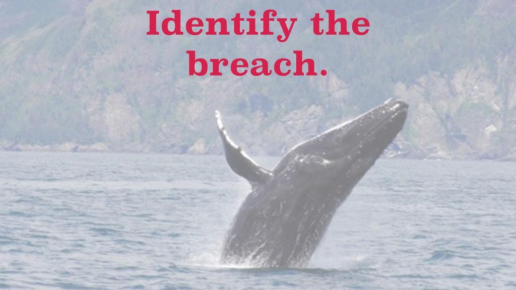 Identify the breach.