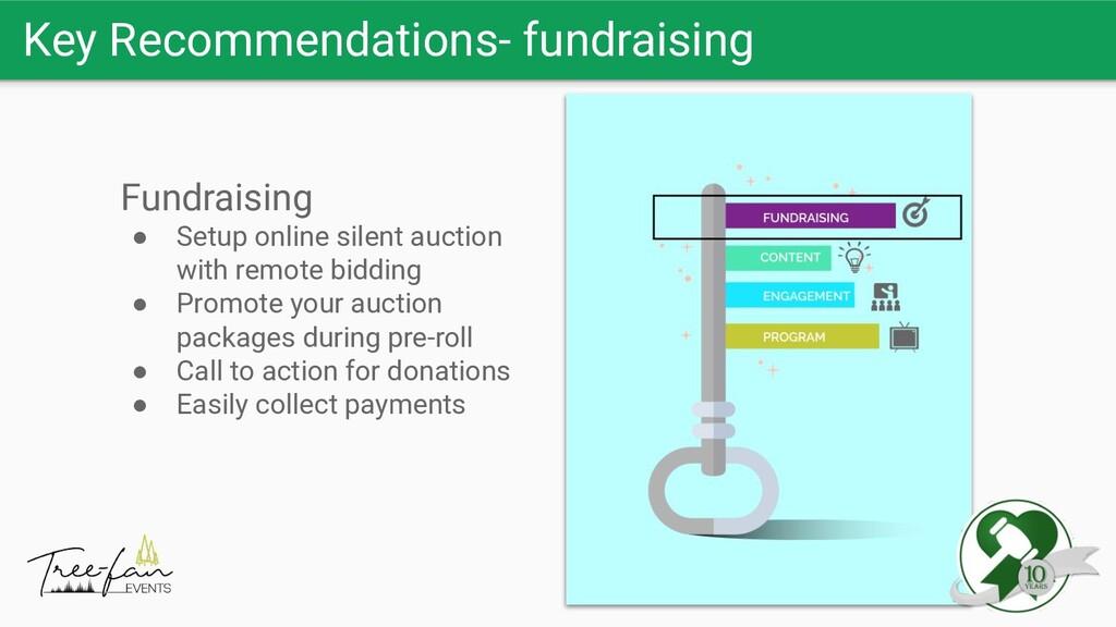 Key Recommendations- fundraising Fundraising ● ...