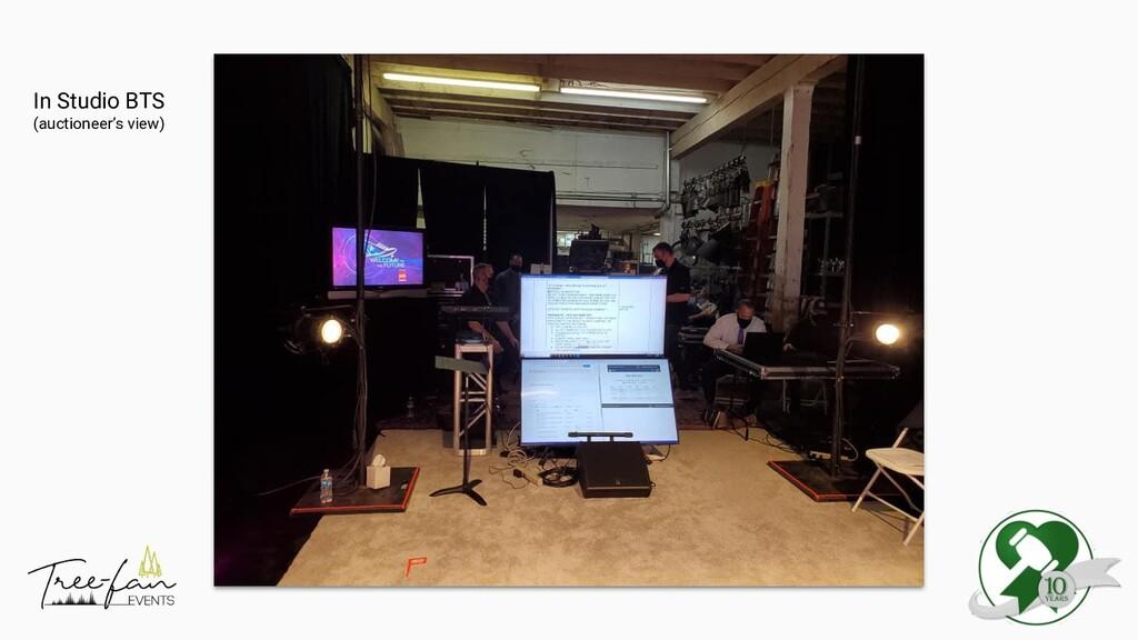In Studio BTS (auctioneer's view)