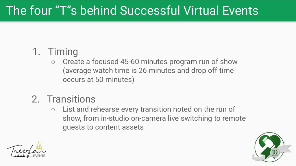 """The four """"T""""s behind Successful Virtual Events ..."""