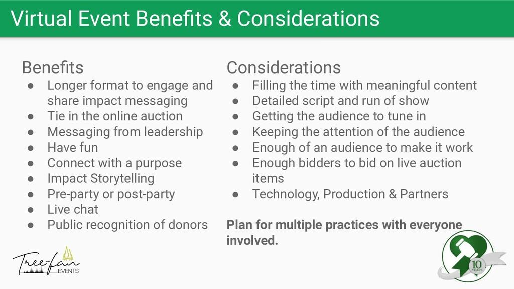 Virtual Event Benefits & Considerations Benefits ...