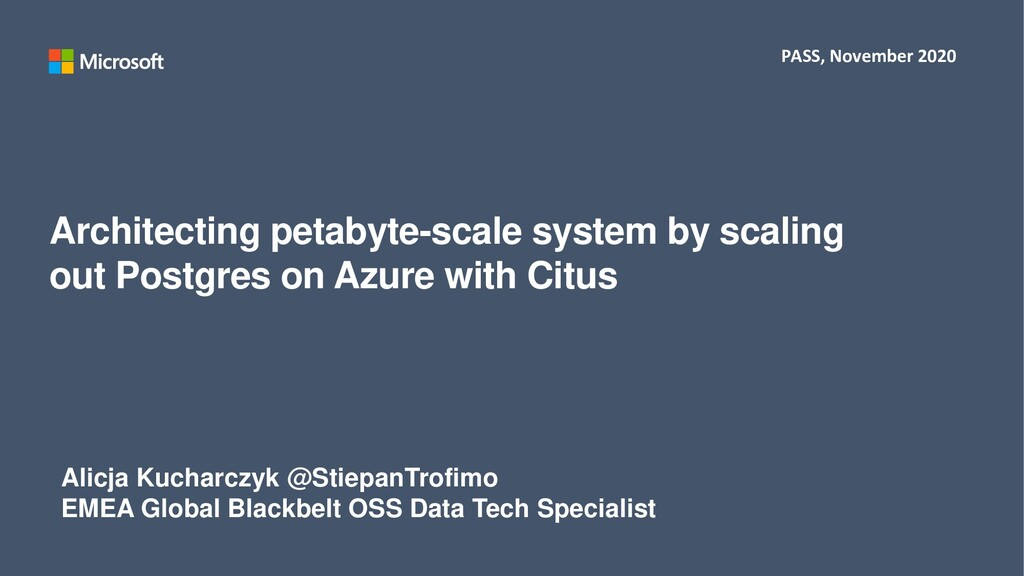 Architecting petabyte-scale system by scaling o...