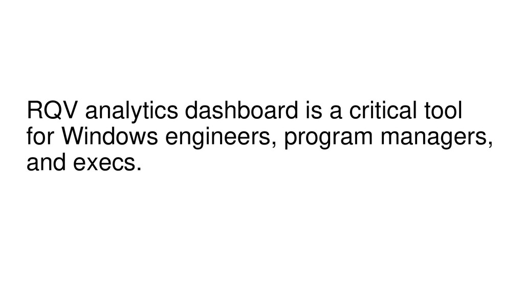 RQV analytics dashboard is a critical tool for ...