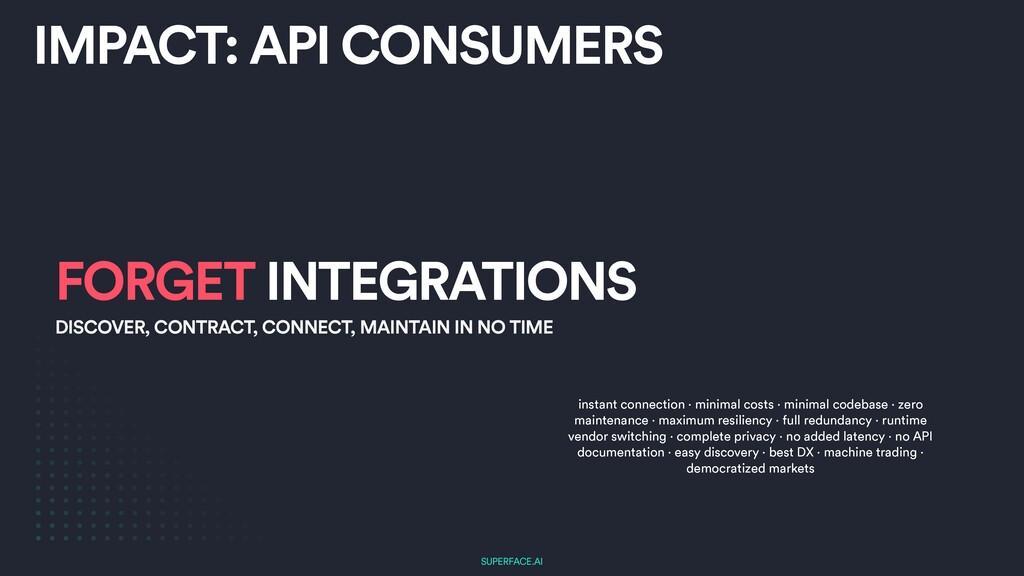 SUPERFACE.AI IMPACT: API CONSUMERS FORGET INTEG...