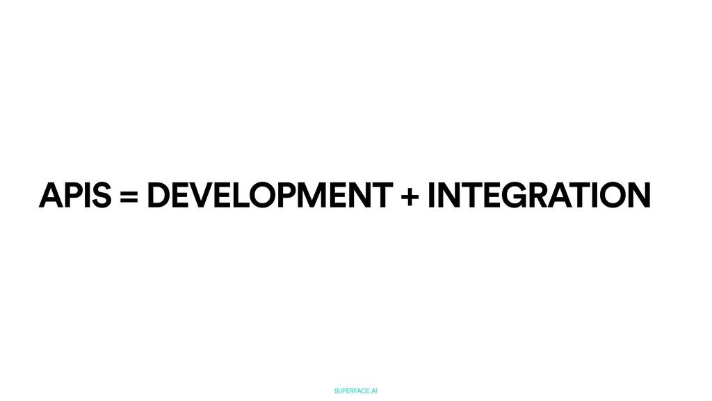 SUPERFACE.AI APIS = DEVELOPMENT + INTEGRATION