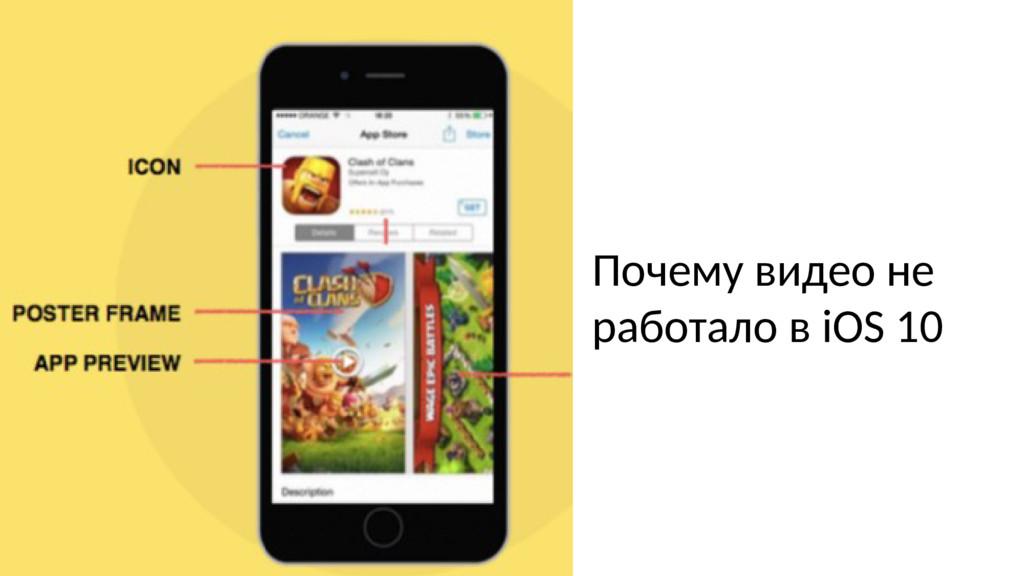 Почему видео не работало в iOS 10