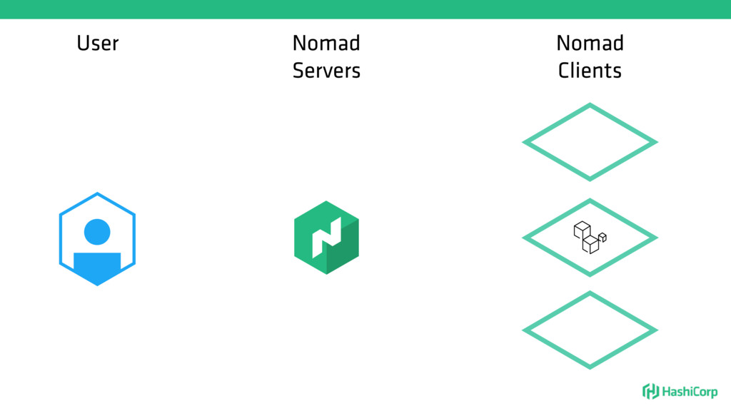 User Nomad Servers Nomad Clients
