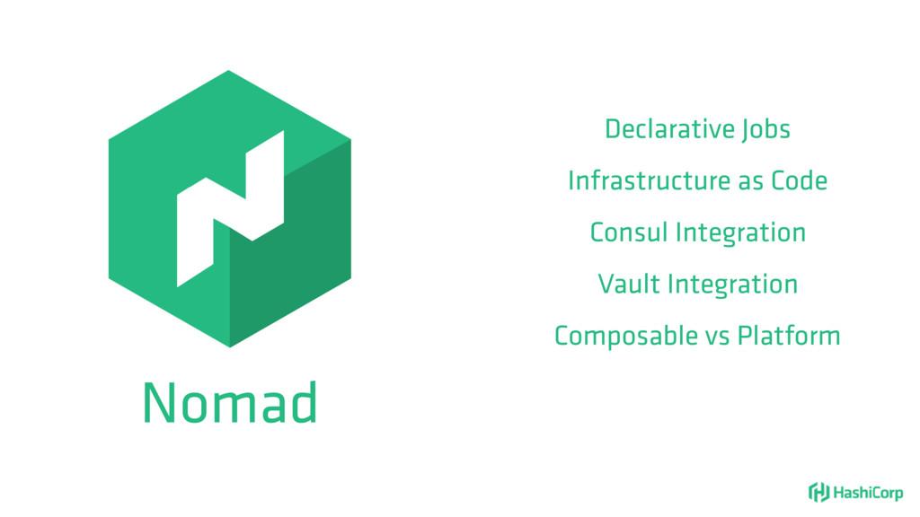 Nomad Declarative Jobs Infrastructure as Code C...