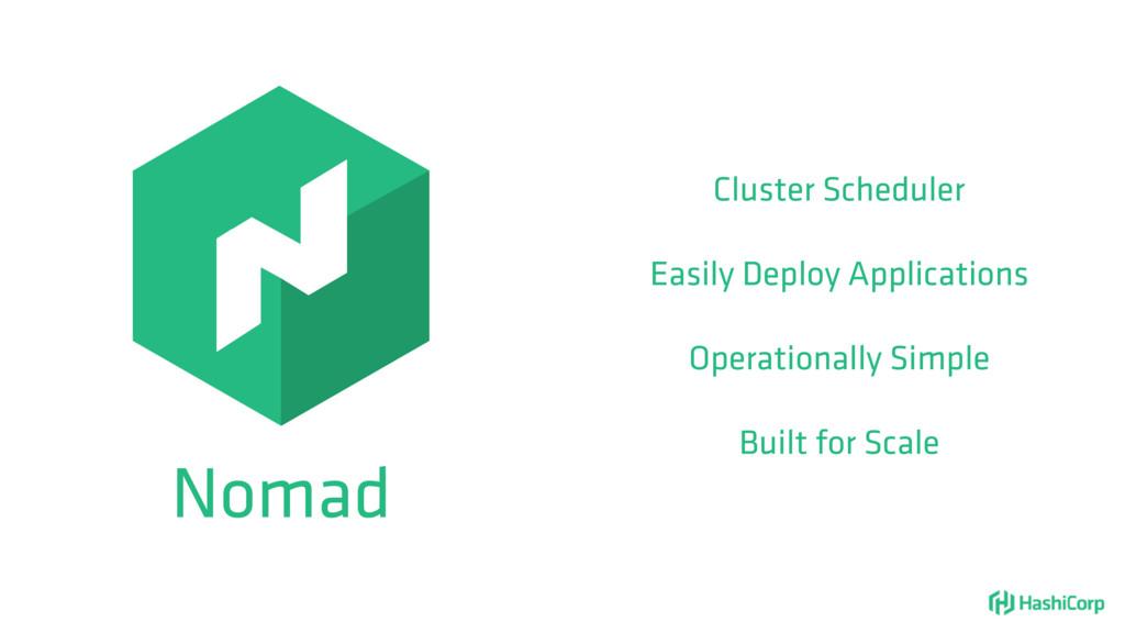 Nomad Cluster Scheduler Easily Deploy Applicati...