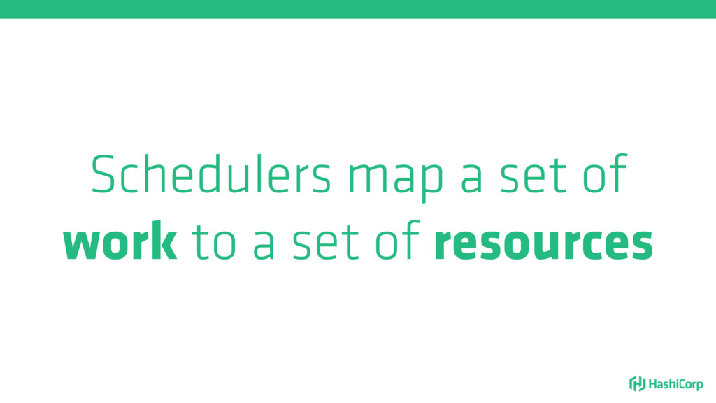 Schedulers map a set of work to a set of resour...