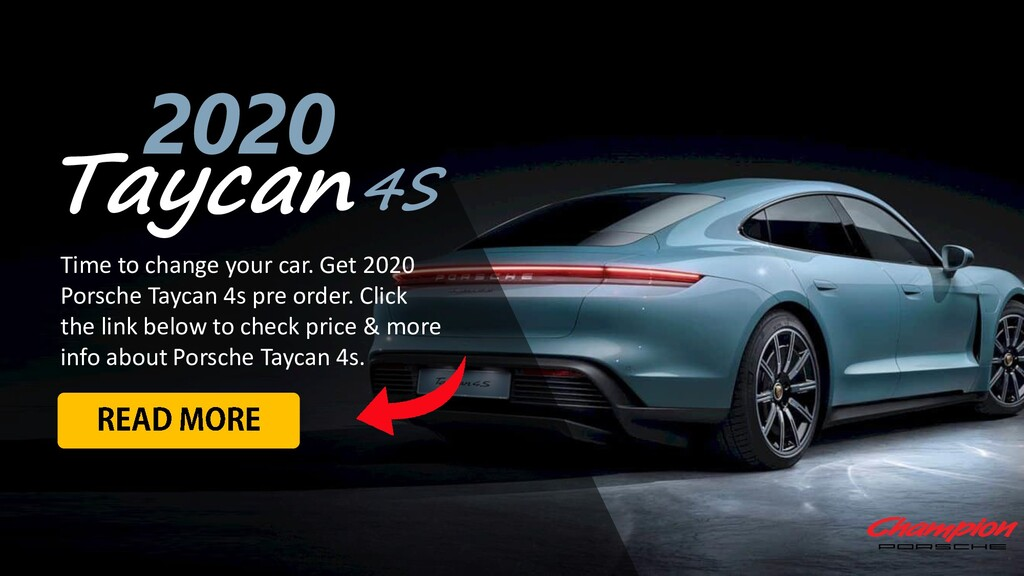 Taycan 2020 Time to change your car. Get 2020 P...