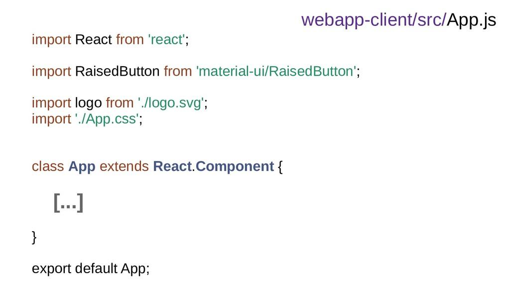webapp-client/src/App.js import React from 'rea...