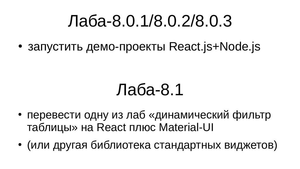 Лаба-8.0.1/8.0.2/8.0.3 ● запустить демо-проекты...