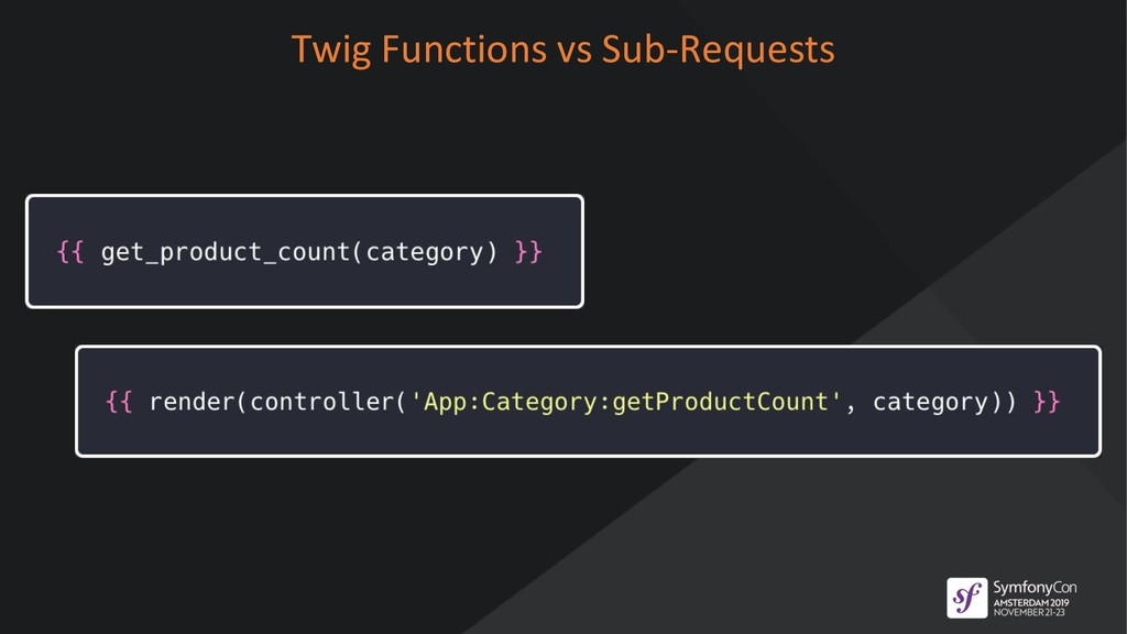 Twig Functions vs Sub-Requests