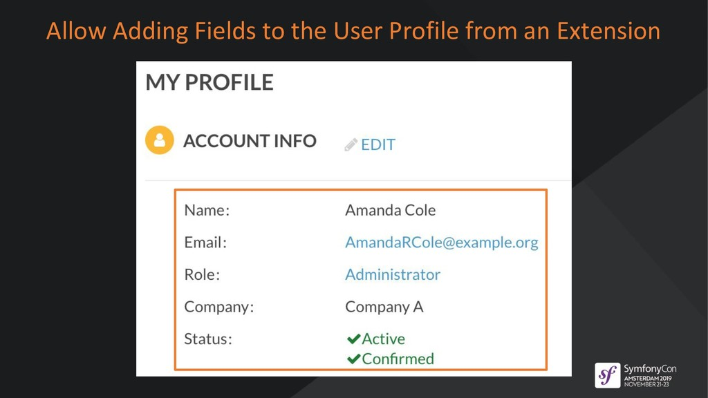 Allow Adding Fields to the User Profile from an...
