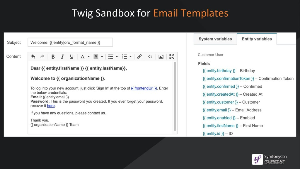 Twig Sandbox for Email Templates