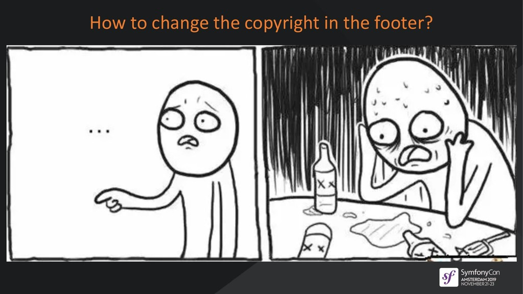 How to change the copyright in the footer?