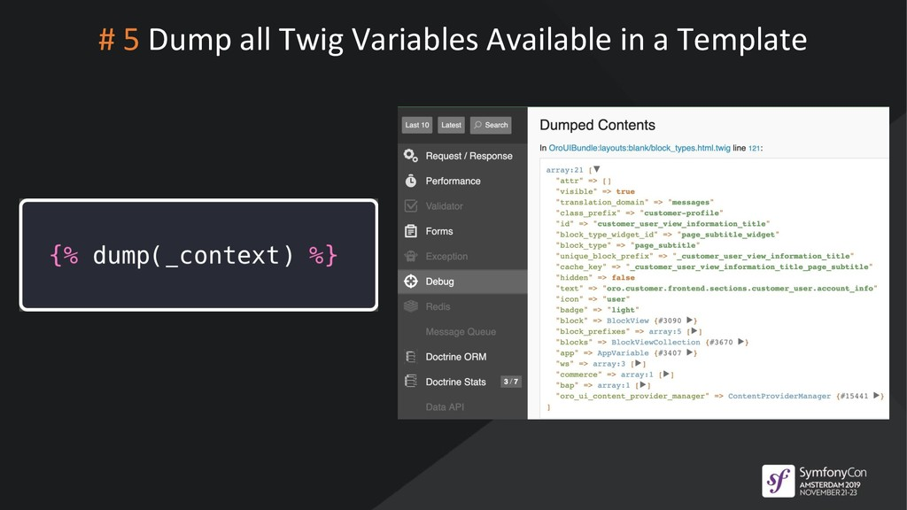 # 5 Dump all Twig Variables Available in a Temp...