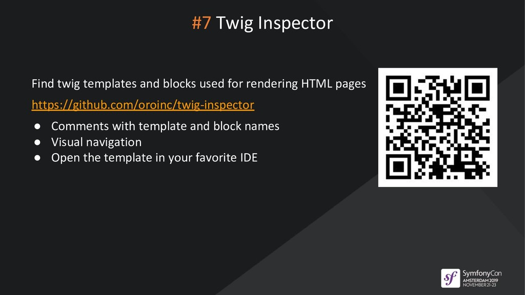 #7 Twig Inspector Find twig templates and block...