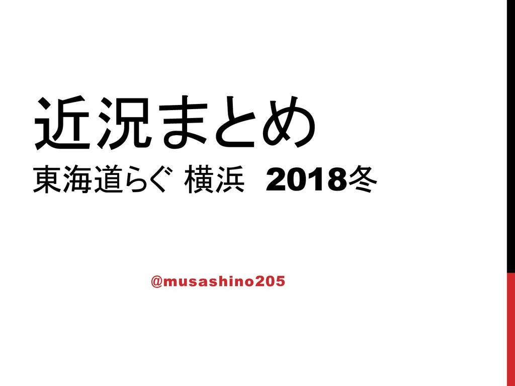 近況まとめ 東海道らぐ 横浜 2018冬 @musashino205