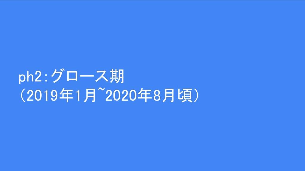 ph2:グロース期 (2019年1月~2020年8月頃)