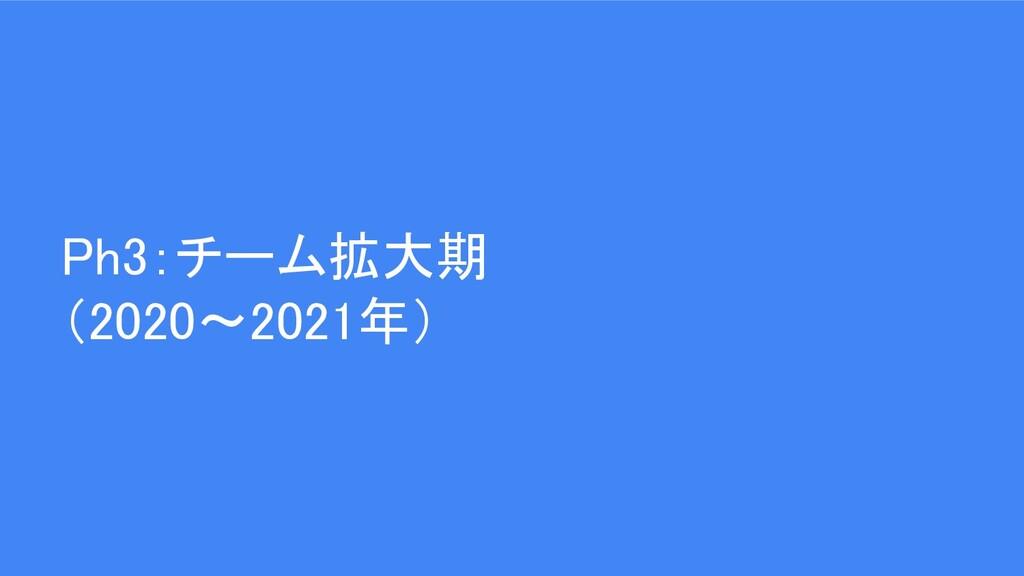 Ph3:チーム拡大期 (2020〜2021年)