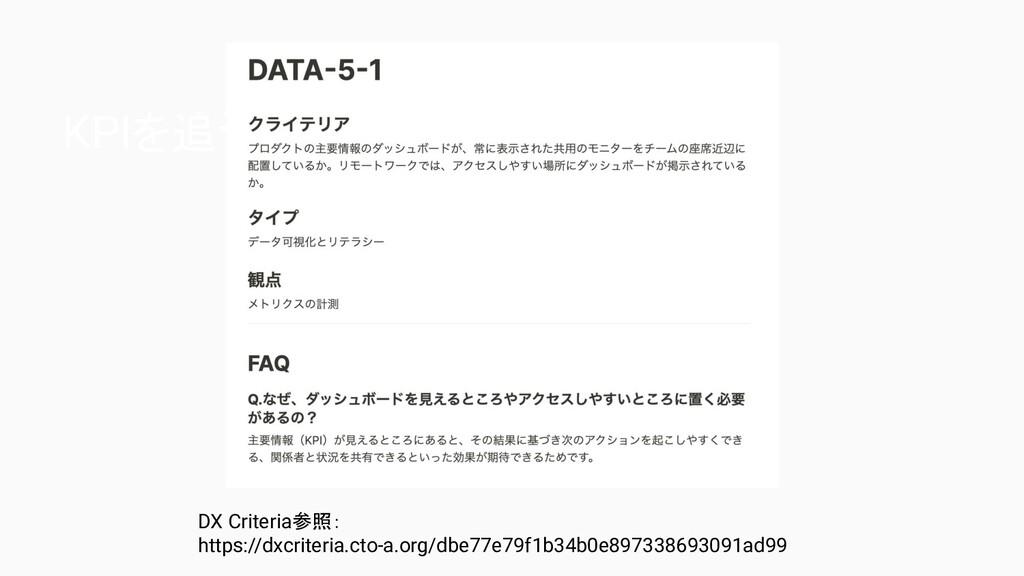 KPIを追う仕組み DX Criteria参照: https://dxcriteria.ct...