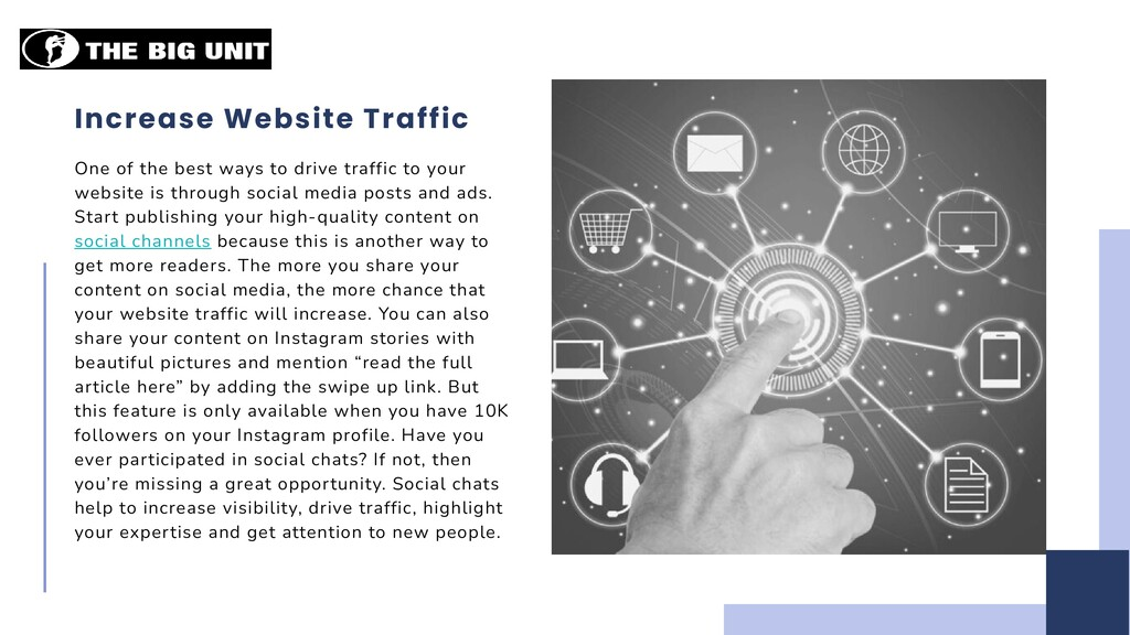 Increase Website Traffic One of the best ways t...