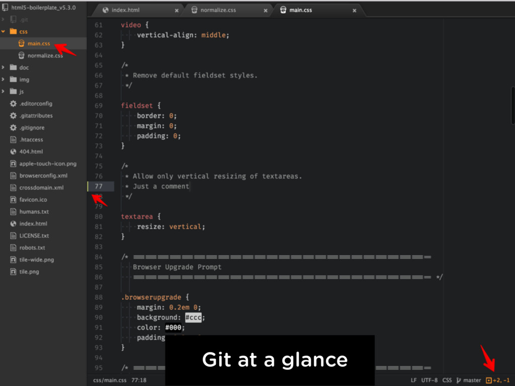 Git at a glance