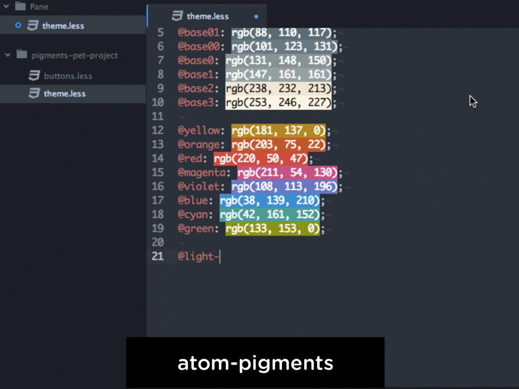 atom-pigments
