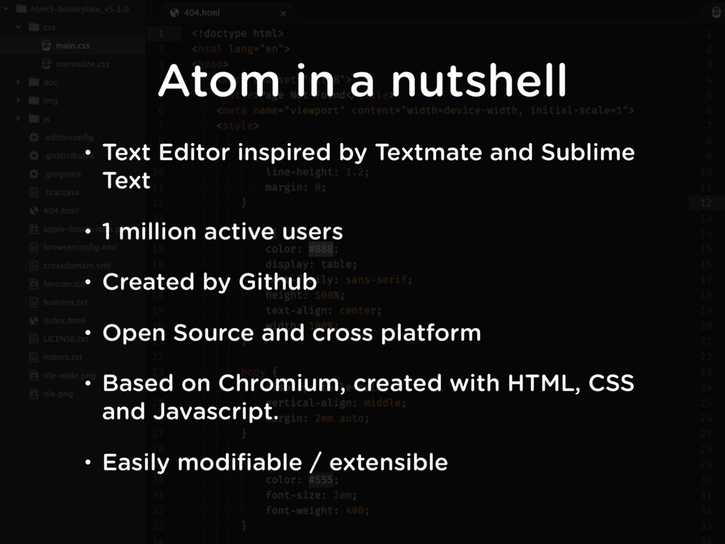 • Text Editor inspired by Textmate and Sublime ...